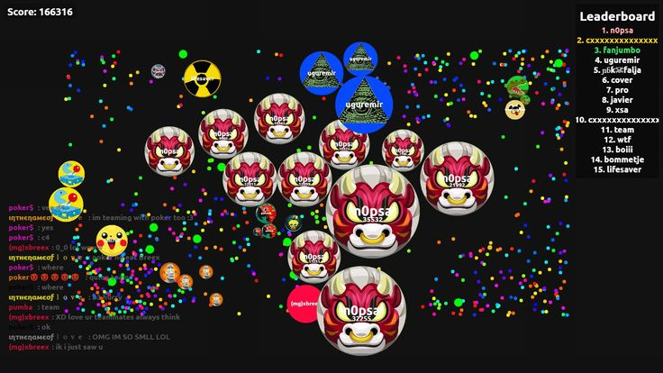 166316 agario pvp score agarabi.com nickname n0psa - Player: n0psa / Score: 1663160 - n0psa saved mass 166316 score game screenshot in user n0psa agario game score screenshot