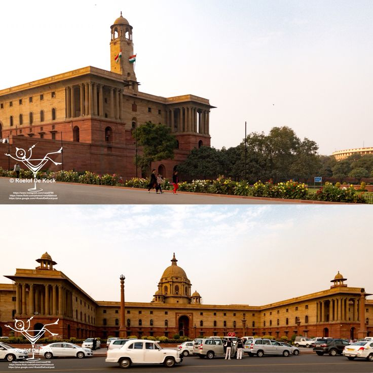 New Delhi, India...Northern & Southern Secretariat Government buildings close to the Indian parliament, built by the British. It has a striking resemblance to the Union Buildings in South Africa.  #india #photography #delhi #secretariat #newdelhi #travelling #incredibleindia #vaas8790