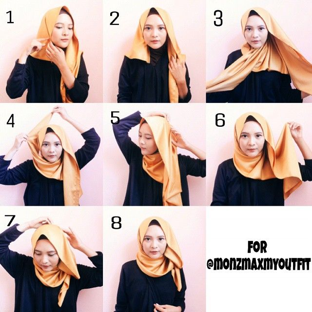 Image result for tutorial hijab segi empat