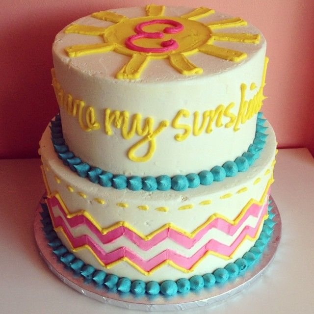 You are my sunshine Birthday Cake by 2tarts Bakery / New Braunfels, Texas / www.2tarts.com