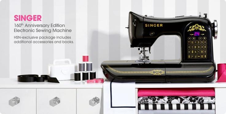 Vintage black, retro-look sewing machine.