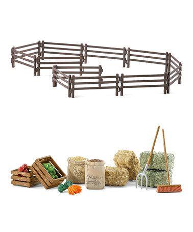 Another great find on #zulily! Farm Accessories Toy Set #zulilyfinds