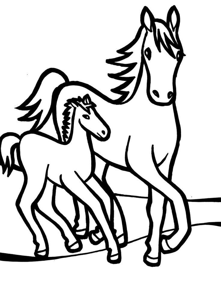 Dibujo de caballos para imprimir y colorear (11 de 12