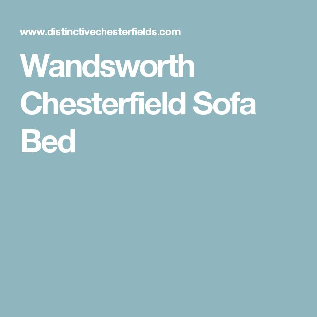 Wandsworth Chesterfield Sofa Bed