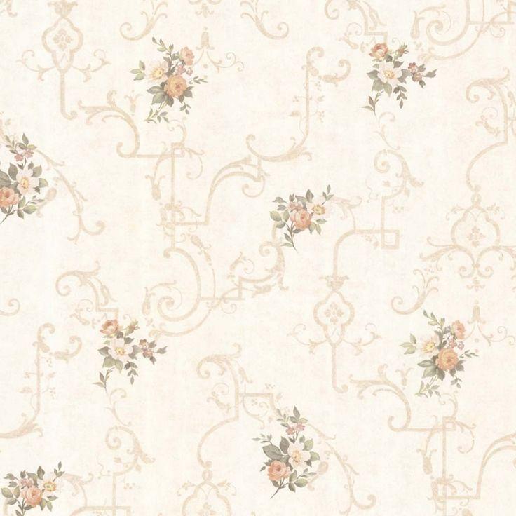 Vintage Rose englische Landhaus Satintapeten Rosen Gitter Art.-Nr.: 68309