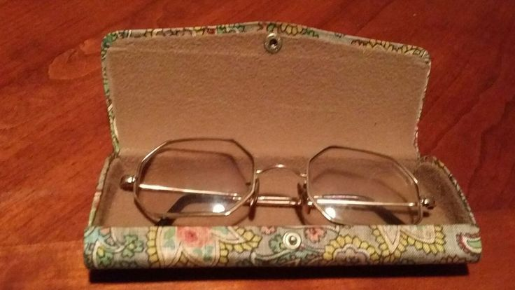 Antique Octagon Spectacle Glasses 12K Gold Frame Vintage Case Made In England   Clothing, Shoes & Accessories, Vintage, Vintage Accessories   eBay!