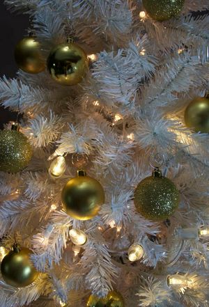 Add Warm White C9 LED Smooth Light Bulbs to a pre-lit tree to add texture to your Christmas tree.