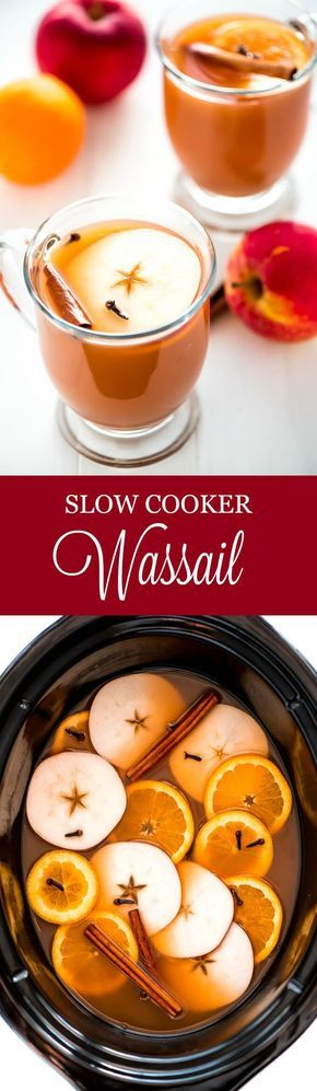 Warm up during the cold winter months with a hot cup of Slow Cooker Wassail. This mulled apple cider is the perfect drink to enjoy with friends and family.