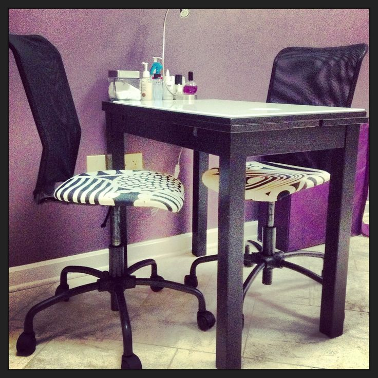 Our nail station!