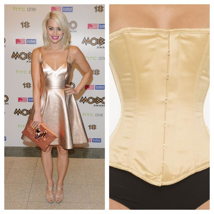 Get Kimberly Wyatt's look with a Vollers 'Cherish' Corset in Gold Satin http://www.vollers-corsets.com/cherish.html