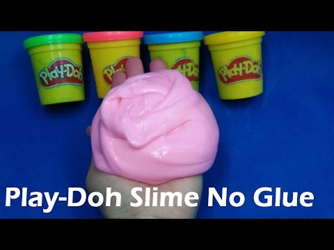 DIY Slime Play Doh Without Glue, How To Make Slime Without Play Doh With Glue, Borax, Detergents - YouTube