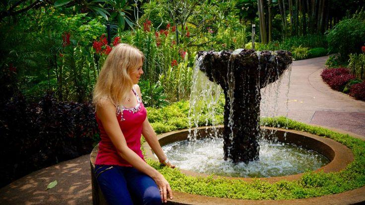 #Singapore #Travel #Orchidgarden #Fountain