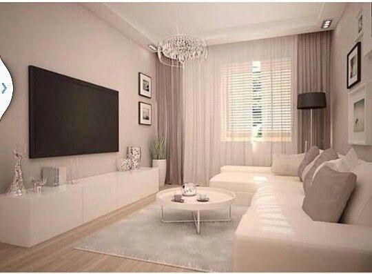 Salas De Estar Usadas ~ Sala de tv clean e chique
