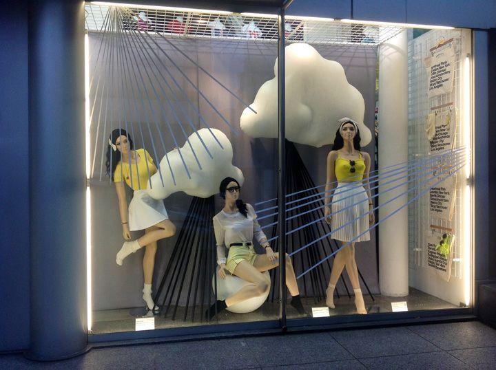 "AMERICAN APPAREL, New York, ""We are looking forward to summer"", (The rain gets warmer), pinned by Ton van der Veer"