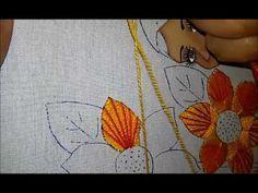 Puntada fantasia flor girasol. - YouTube