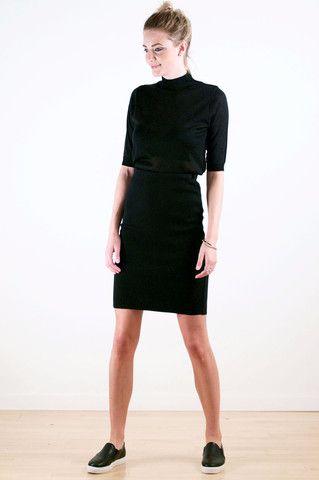 Black Cotton Skirt