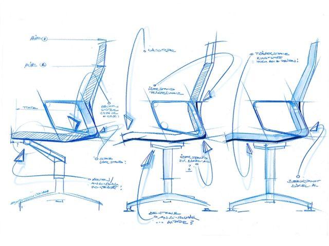 Interstuhl industrial design sketch graphics and design for Industrial design news