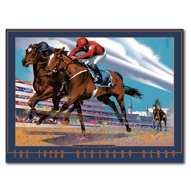 Mattos Is Internationally Recognized For His Retro Inspired Graphic Images Dramatic Racing Image The Kentucky Derby