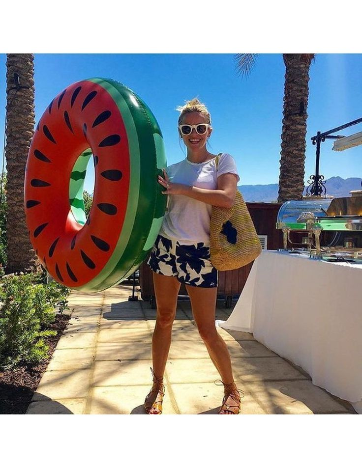 Reese Witherspoon having fun at Coachella with our Watermelon Pool Float