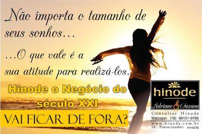 Consultores Hinode - Página Lucrativa - Negócios Online - Renda Extra: HINODE O NEGÓCIO DO SÉCULO XXI