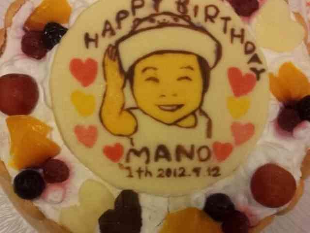 似顔絵ケーキ☆一歳のお誕生日に(^^)♪の画像