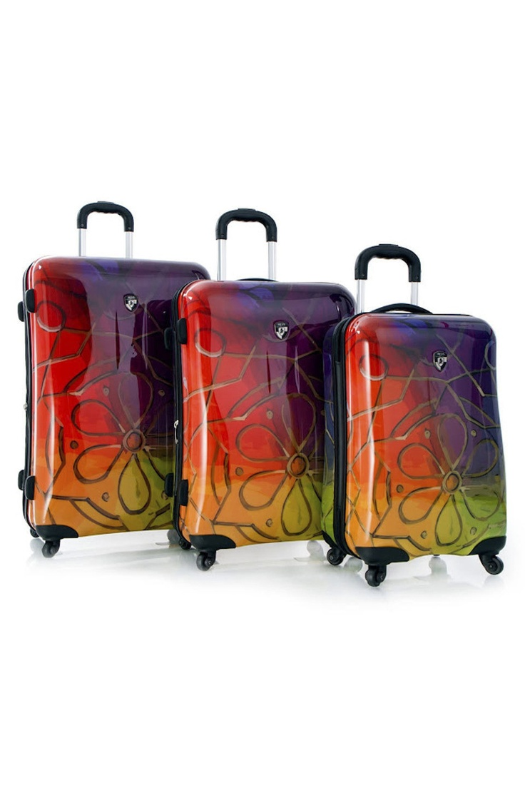 Nested Fashion Spinner 3-Piece Luggage Set In Azteca
