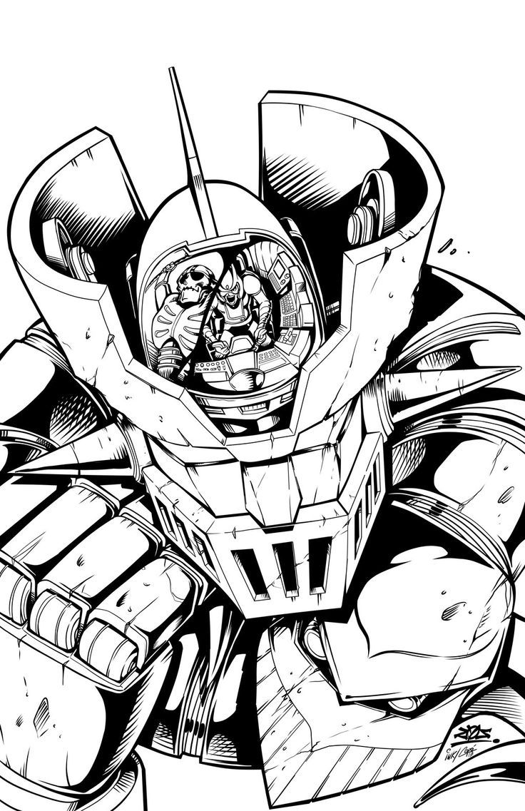 Mazinger z coloring pages - Mazinger Z By Jorgecopo