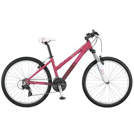 Scott Contessa 660 är en perfekt första mountainbike för tjejer som vill ha en cykel med lågt insteg. Den passar utmärkt som till-skolan-cykel, eller för lättare träning.