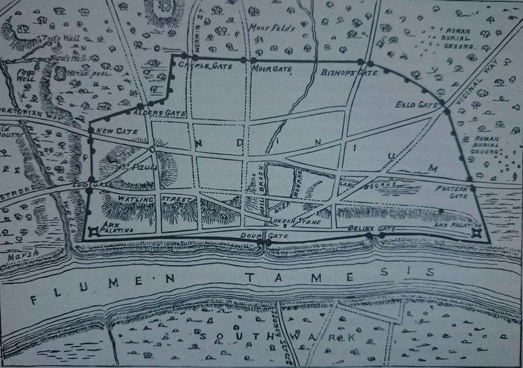 Map of Roman Londinium circa 200AD