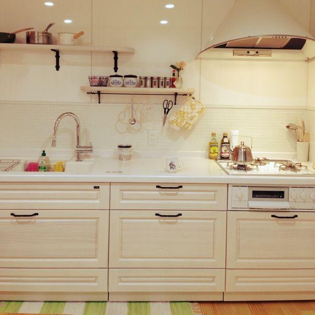 フランフラン/ヤマムー/オープンキッチン/狭いキッチン/無印良品/ダイソー…などのインテリア実例 - 2014-08-14 01:11:18 | RoomClip(ルームクリップ)