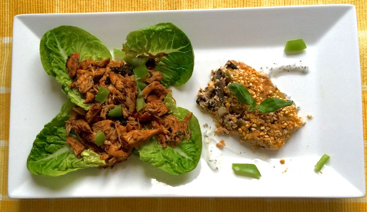 SPICY SHREDDED CHICKEN SALAD WITH A MUSHROOM, SPRING ONION & COTTAGE ...