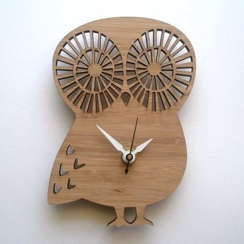 Decoylab Baby Owl Modern Animal Clock modern kids decor