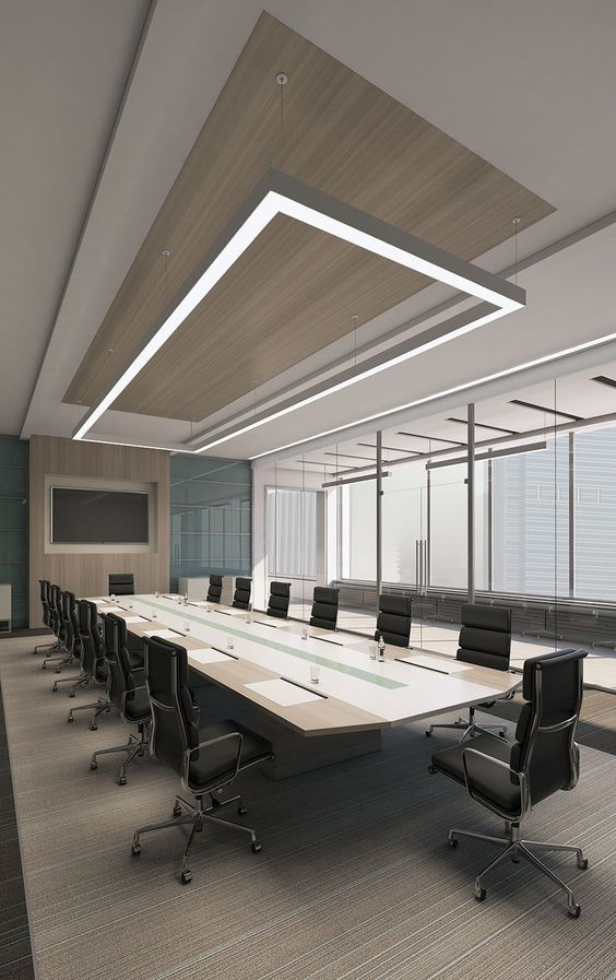 Conference Room Lighting Design: Modern Conference Space