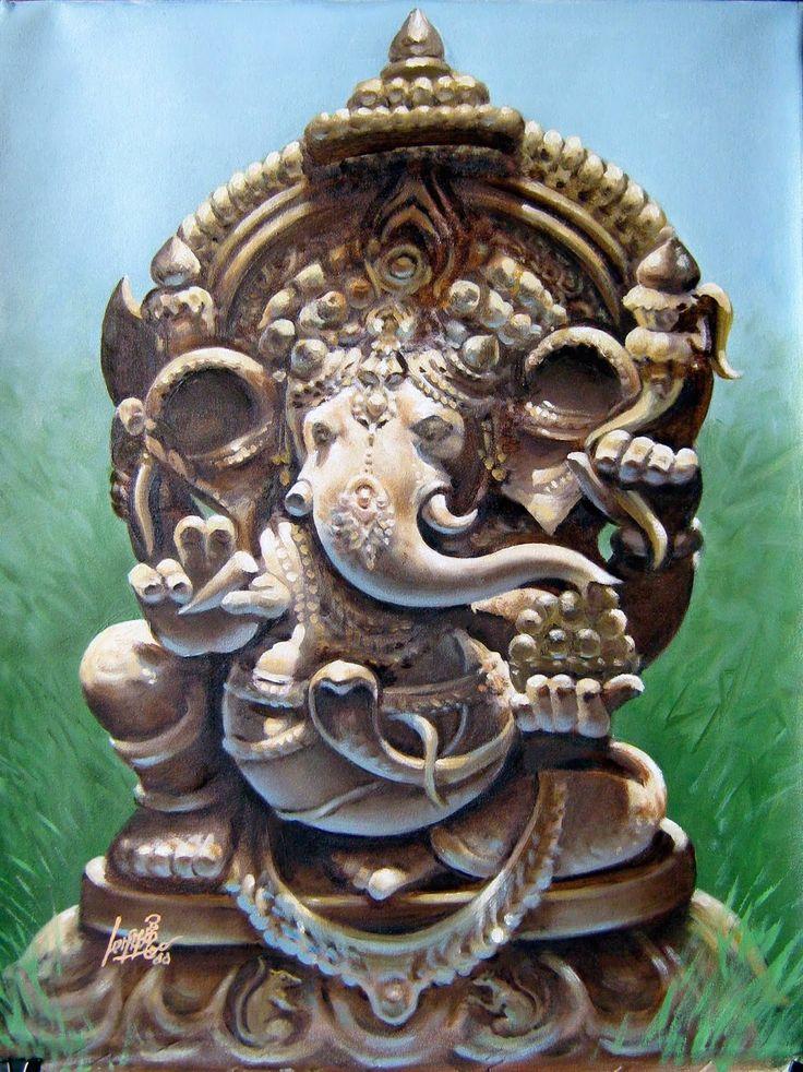Oil painting of Lord Ganesha