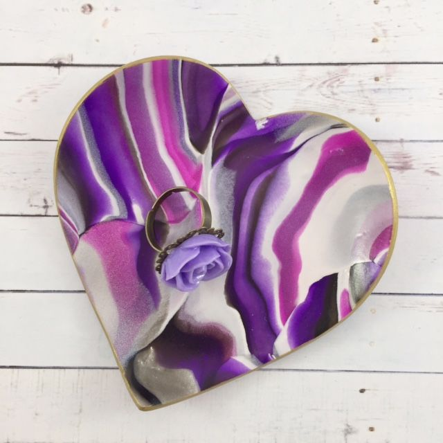 Our one of a kind, handmade, heart jewelry dishes are the perfect gift idea for Valentine's Day!