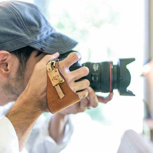カメラハンドストラップ/デジタル一眼レフカメラ仕様 - ヴィンテージタン|カメラケース|+K|ハンドメイド通販・販売のCreema