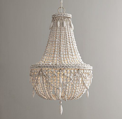 beaded lighting. weathered whiteanselmeu0027s graceful tapered swag and circular silhouette showcase the hallmarks of classic empire style wood beading teardrops lend beaded lighting