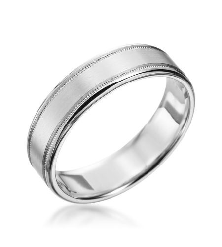 New With Tags Scott Kay Platinum Mens 6mm Wedding Band: Classic Collection Platinum 6mm Concave
