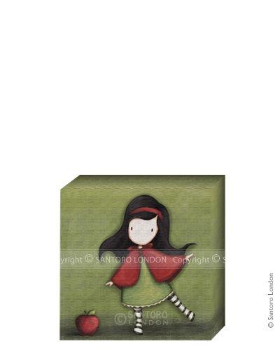 Gorjuss Canvas - Little Red (20x20cm) - Santoro London