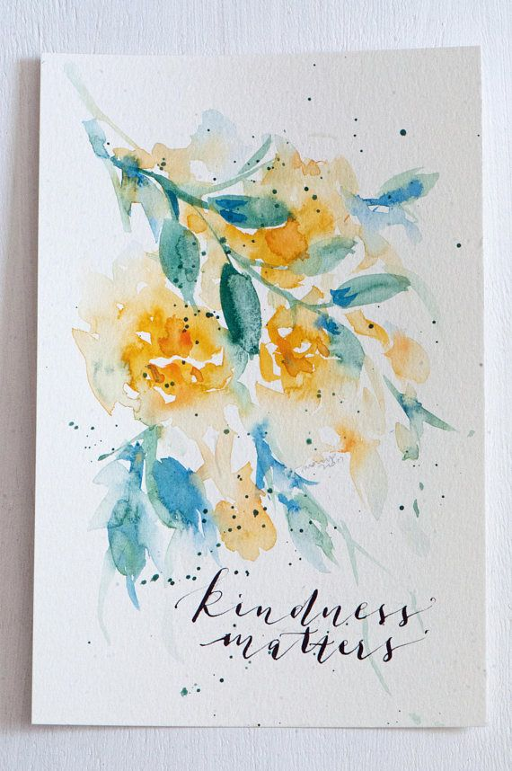 15 best hand painted greeting cards images on pinterest greeting original watercolor art handlettered watercolor roses m4hsunfo