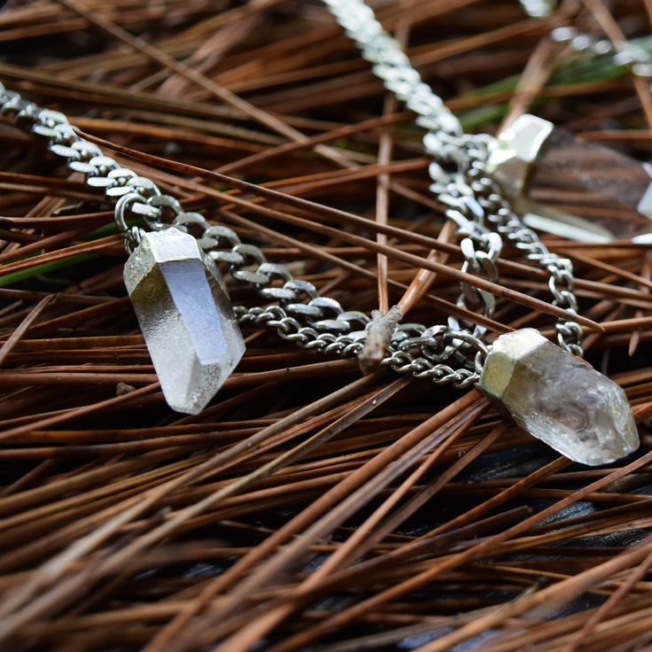 |Arabella Clear Quartz Choker Necklace| Undead Threads autumn forest look book #photography #crystaljewellery #crystals #forest #fashion