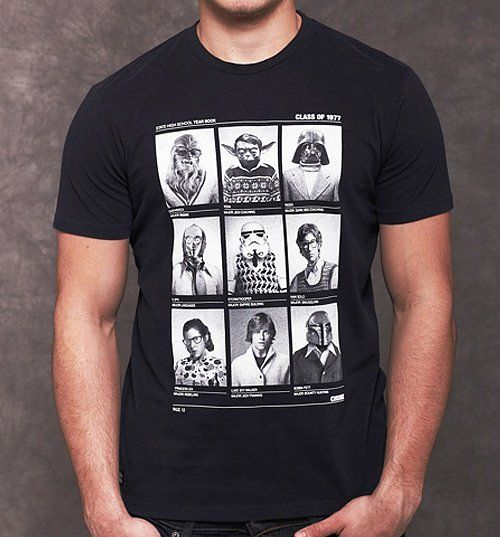 Class of 77 Star Wars T Shirt.  Another classic design by Chunk - is this what  the star wars gang would look like in their 1977 year book?