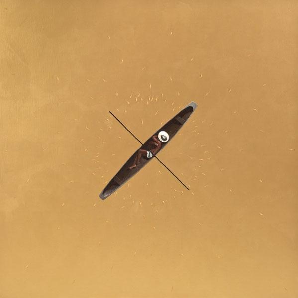 Pedro Ruiz, Cosmos, 2012, Acrylic on Canvas, 100 x 100 cm.