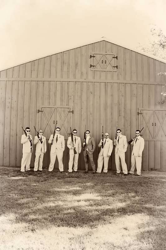 Rustic country groom and groomsmen  Mandy Stansberry Photography