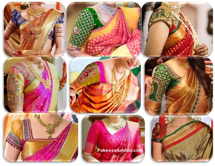 Top 20 Wedding silk Saree blouse designs Patterns &…