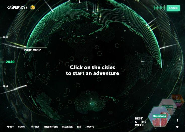 Así será el planeta en 2050 según Kaspersky  Un mapa interactivo de lo que podría ser el futuro de nuestro planeta. El equipo de Kaspersky Lab creó un mapa interactivo en el que muestra su visión de cómo se verá el mundo en 2050.  Este permitirá que los usuarios exploren distintas ciudades del mundo en 2030 2040 y 2050 como si estuvieran utilizando Street View de Google. Una verdadera aventura acompañada de una música mística que termina de crear el ambiente futurista.  Basado en…