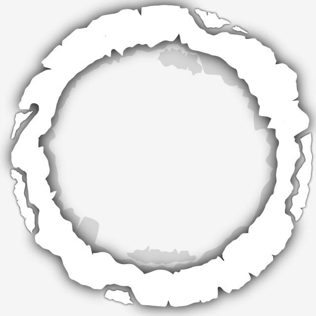 Circle Frame Torn Paper Effect White Transparent Screen Cool Effect Png Transparent Clipart Image And Psd File For Free Download Torn Paper Circle Frames Prints For Sale
