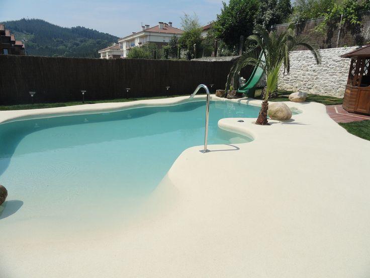Mejores 103 im genes de viviendas con piscina de arena en - Piscinas de arena natursand ...