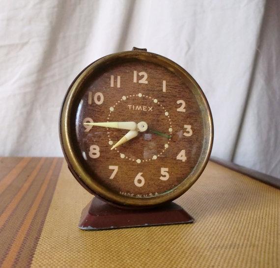 1950s Timex Alarm Clock by mandahxo on Etsy, $17.00