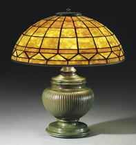 TIFFANY STUDIOS   A 'COLONIAL' TABLE LAMP, CIRCA 1910   1910s, table lamp   Christie's